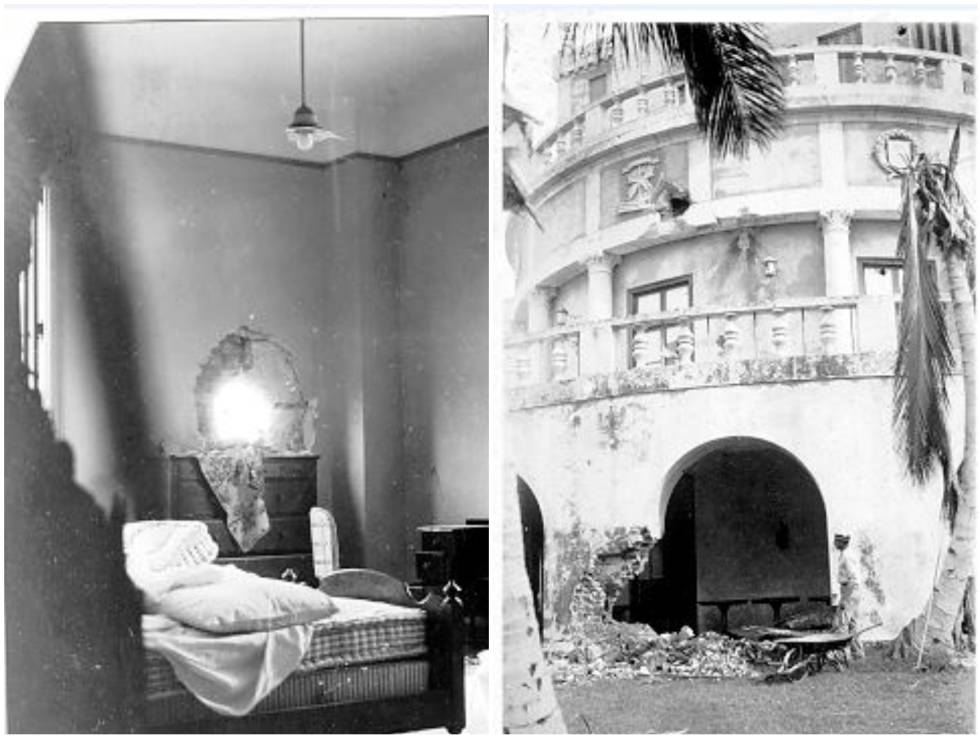 Damage to the hotel in 1933, after the revolution that removed Machado from power.