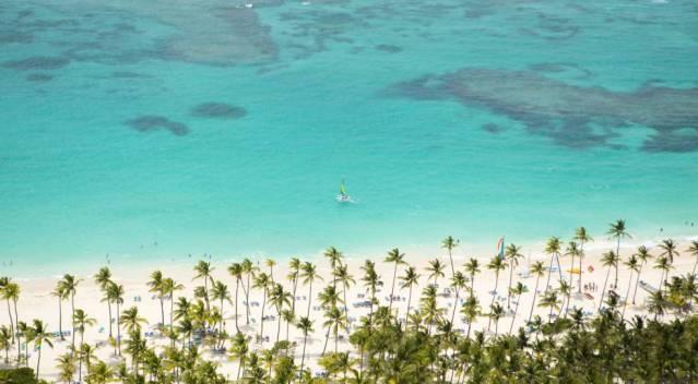 Praia Bávaro, uma das mais conhecidas de República Dominicana.