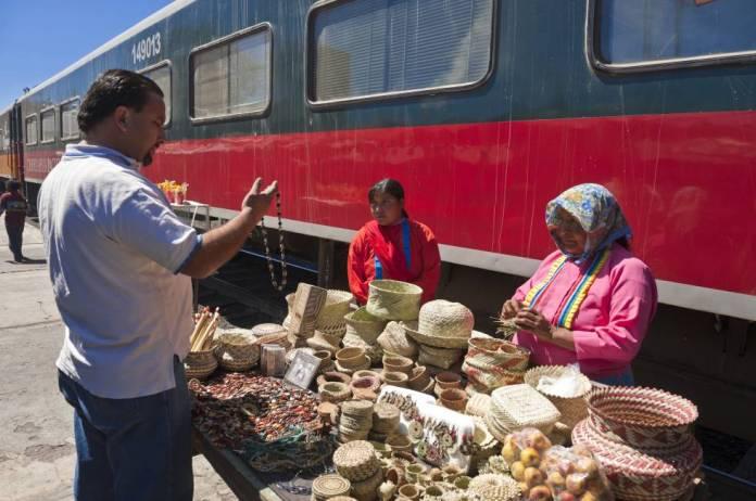 La estación de Divisadero, en Chihuahua (México), una de las paradas de la línea ferroviaria de El Chepe.
