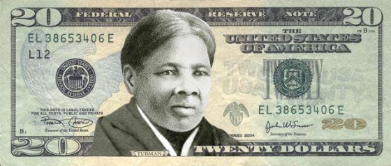 Una mujer en el billete de 20 dólares