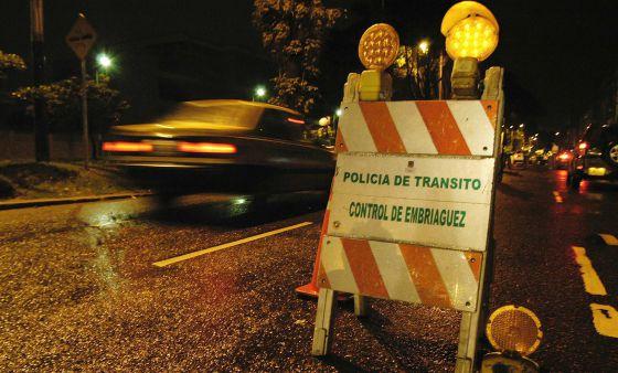 Control de Policía de tránsito en Colombia