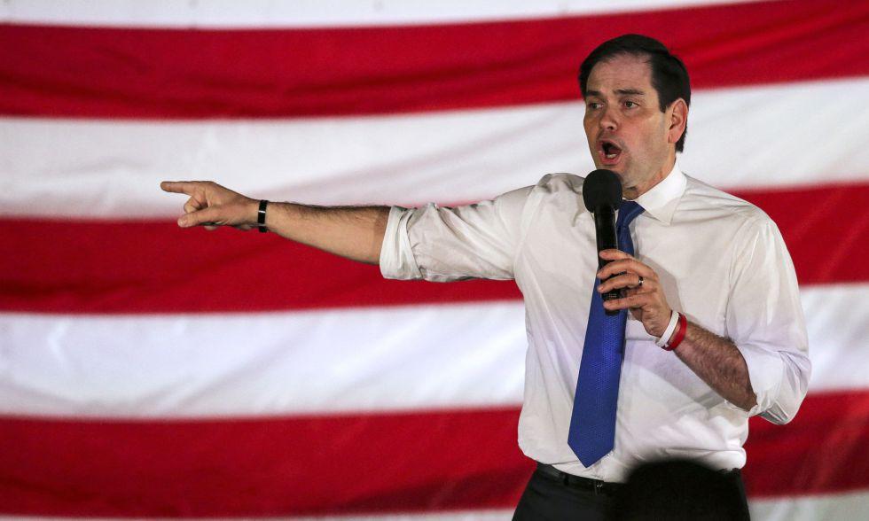 Marco Rubio, en un acto de campaña.
