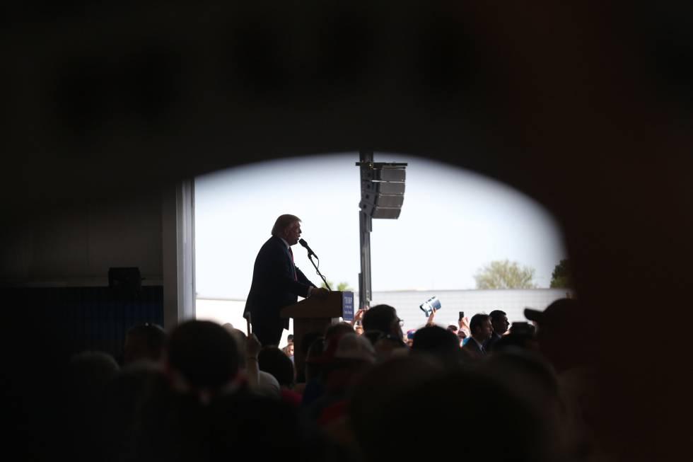 Donald Trump en Omaha (Nebraska)