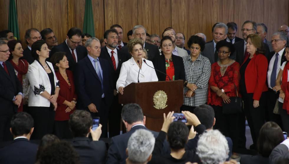 Rousseff, el día que fue apartada de la presidencia.