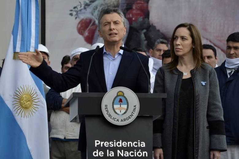 Mauricio Macri anuncia el veto a la ley antidespidos, el 20 de mayo pasado.