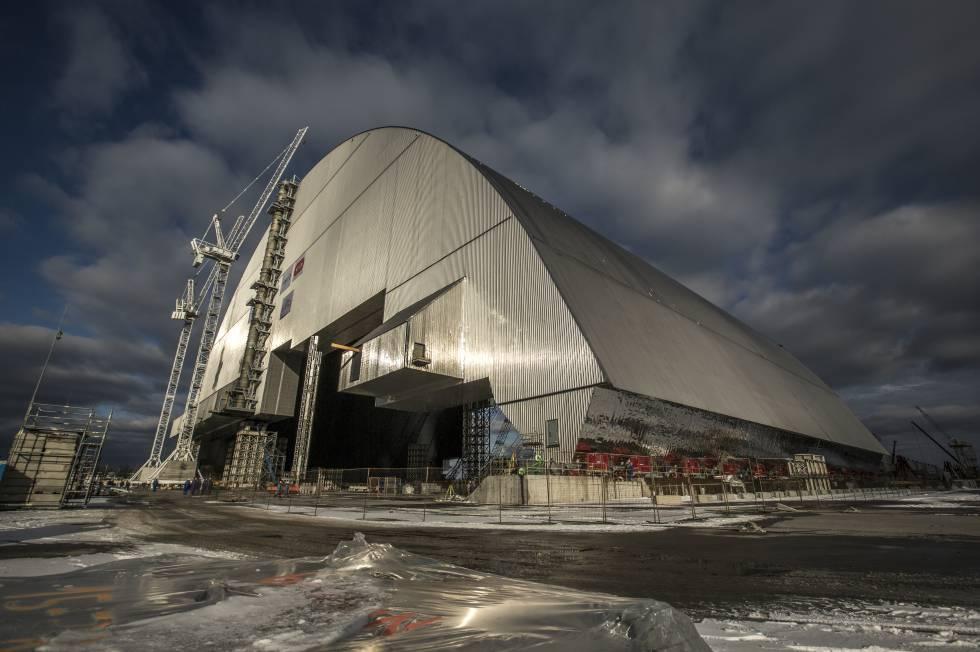 El caparazón que cubrirá Chernóbil.