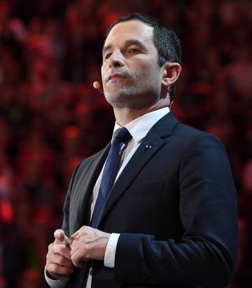 Benoît Hamon, este domingo en París.