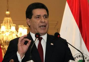 El presidente de Paraguay, Horacio Cartes.