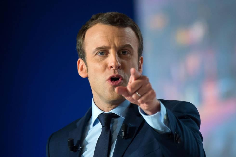 El candidato a las presidenciales de Francia 2017 por En Marche!, Emmanuel Macron.