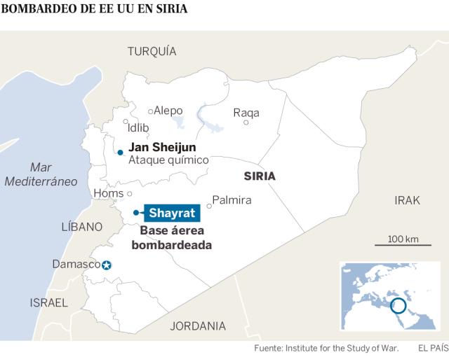 Estados Unidos ataca con misiles al régimen sirio