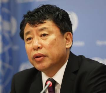 El embajador norcoreano ante la ONU, Kim In Ryong.