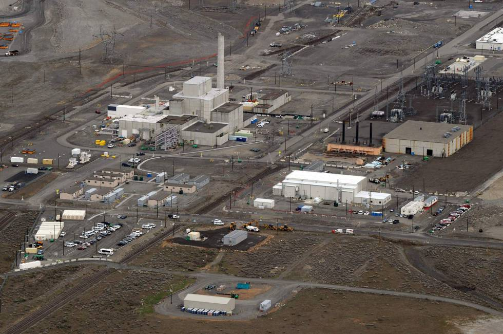 Vista del complejo nuclear de Hanford, en el Estado de Washington.