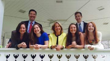 James Comey y su familia.