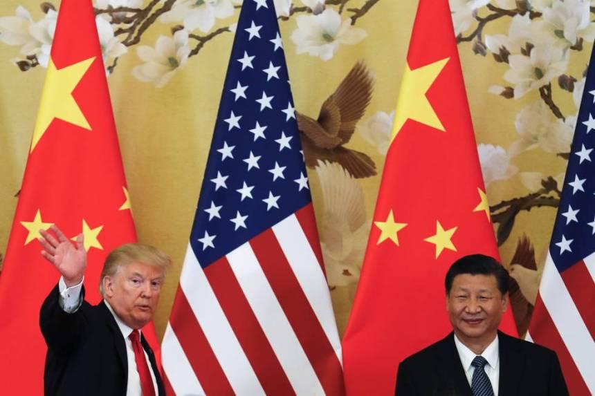 Donald Trump y su homólogo chino, Xi Jingping el noviembre en Pekín.