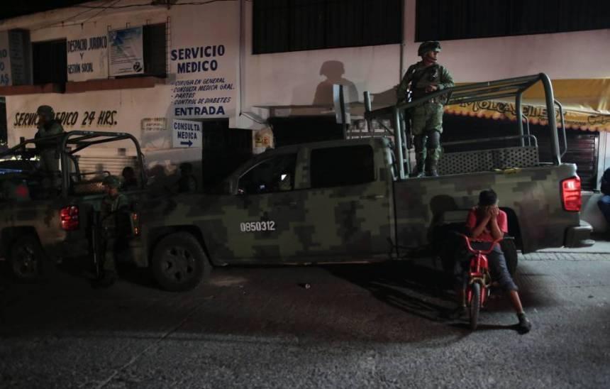 Militares en las calles de Chilpancingo (Guerrero).