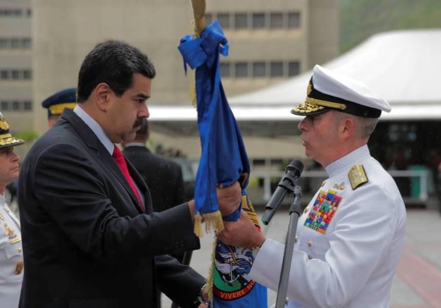 Maduro en un acto militar este jueves.