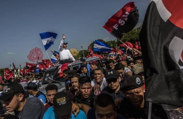 Daniel Ortega, a su llegada a la celebración del 39 aniversario del triunfo de la revolución sandinista.
