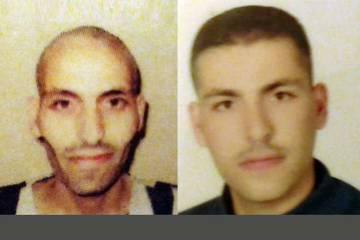 Imagem em que aparece Bilal Jolani, de 20 anos, depois e antes de ser preso durante oito meses em 2014 em presídios pró-governamentais