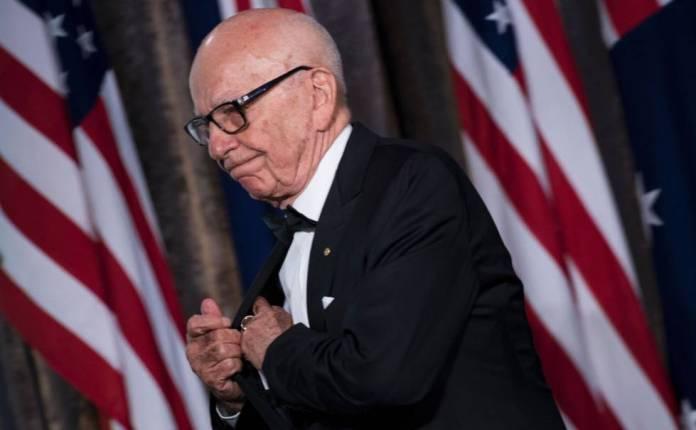 Rupert Murdoch, durante un acto conmemorativo de la II Guerra Mundial, en mayo en Nueva York.