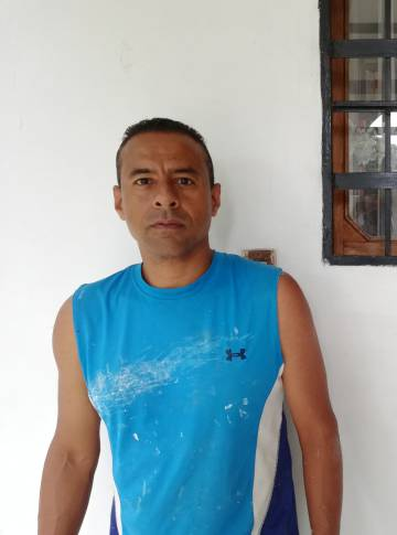 César Reina, ayer en Caracas.