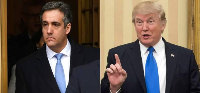 El abogado Michael Cohen y el presidente Trump.