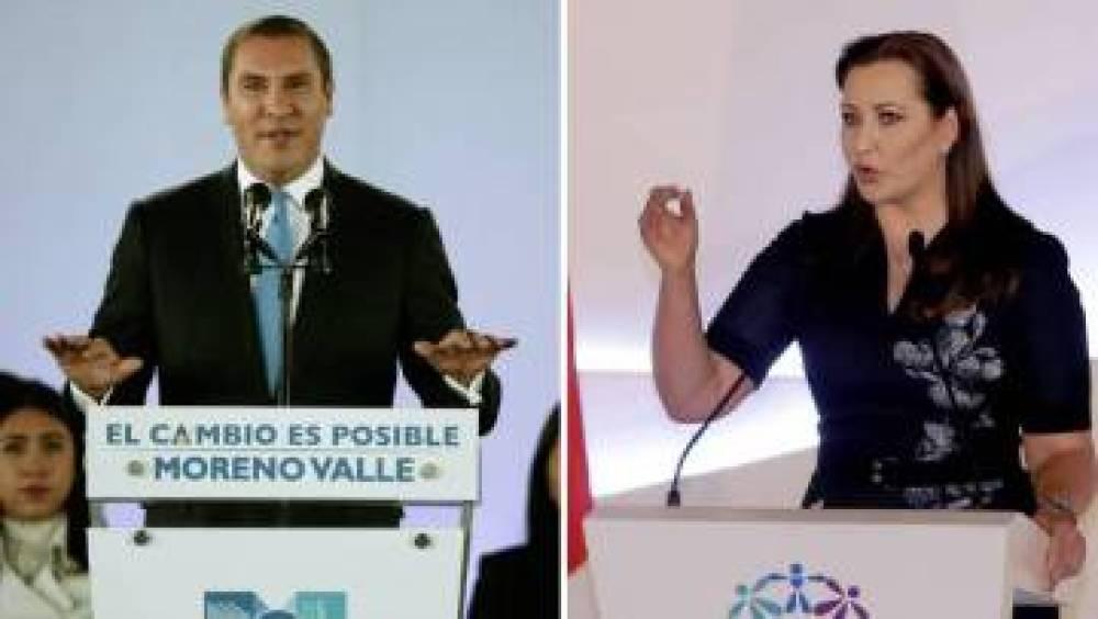 Rafael Moreno Valle y Martha Érika Alonso, en dos fotos de archivo