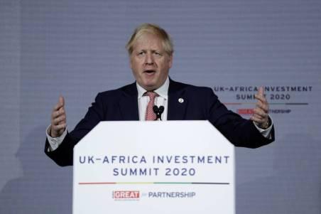 El primer ministro del Reino Unido, Boris Johnson, este lunes en Londres