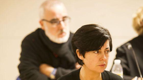 Rosario Porto y Alfonso Basterra durante una sesión del juicio de Asunta