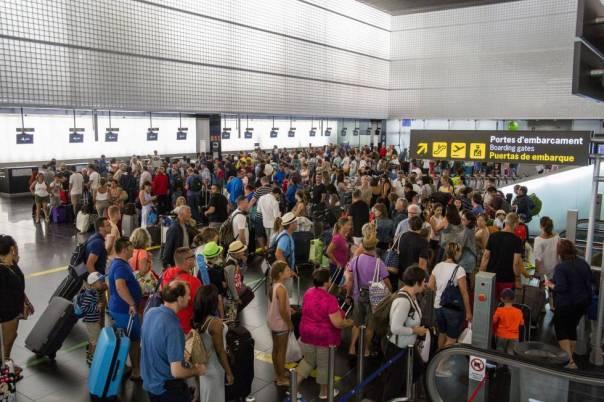 Aeropuerto del Prat en Barcelona.
