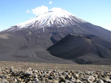 El cono Navidad, surgido en 1998 al pie del volcán Lonquimay.