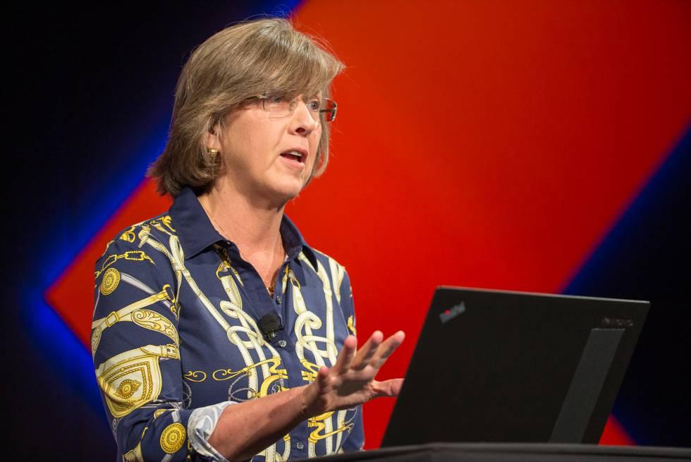 Mary Meeker durante la presentación de su informe en la conferencia Code.