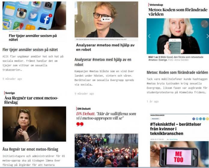 Informaciones generadas por el movimiento sueco.