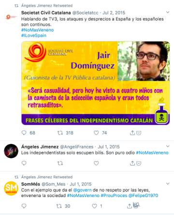 900 false accounts of the same company that hired Barça campaigned against secessionism