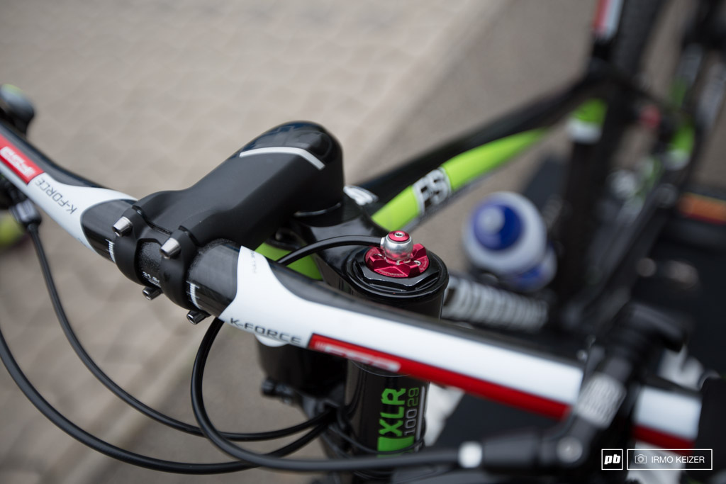 The Lefty 2.0 has received a damper upgrade and is couple to RockShox s remote lever for on the fly adjustment or locking.