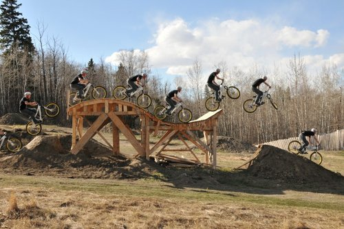 how to build wood bmx jumps