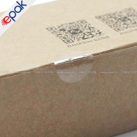 tem trong suốt dán thùng hàng