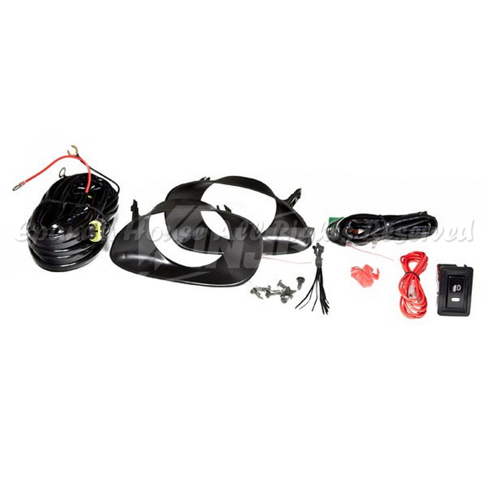 For 06 10 Toyota Yaris 3 Dr Smoked Lens Usa Fog Lights