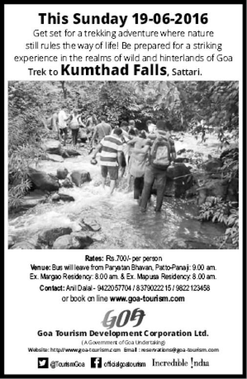 Trek to Kumthad Falls, Sattari, Goa