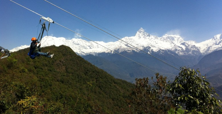 Zip flying in Nepal is not just another zipline; it is the world's longest, steepest and fastest zip-line