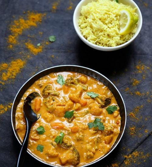 curry végétarien,recettes