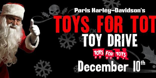 Toys for Tots Drive today at Paris Harley Davidson
