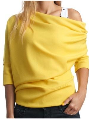 Ассиметричный свитер из футера