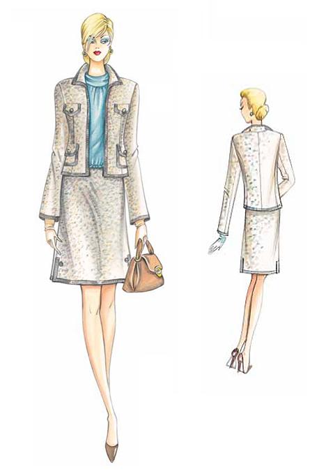 Бесплатная выкройка юбки в стиле Шанель