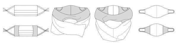 Защитная маска для лица бесплатная выкройка