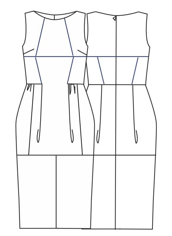 Бесплатная выкройка платья из кожи