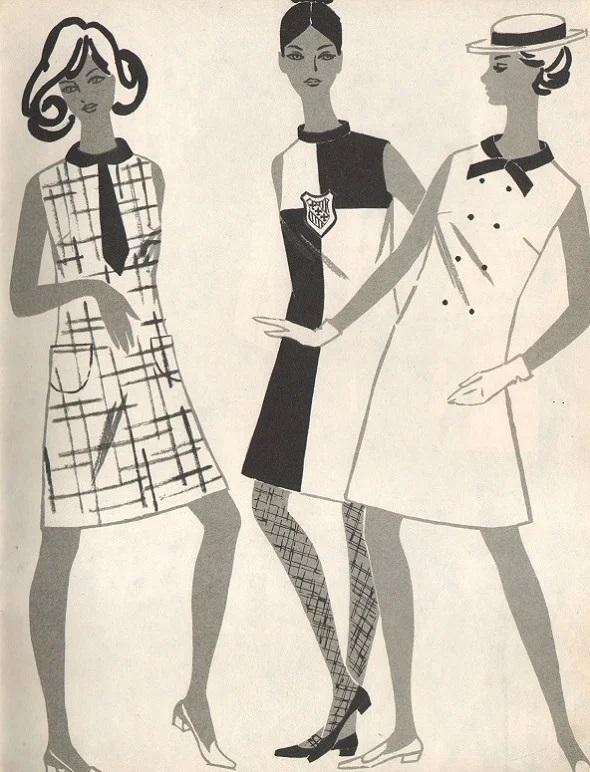 Платья 60-х годов