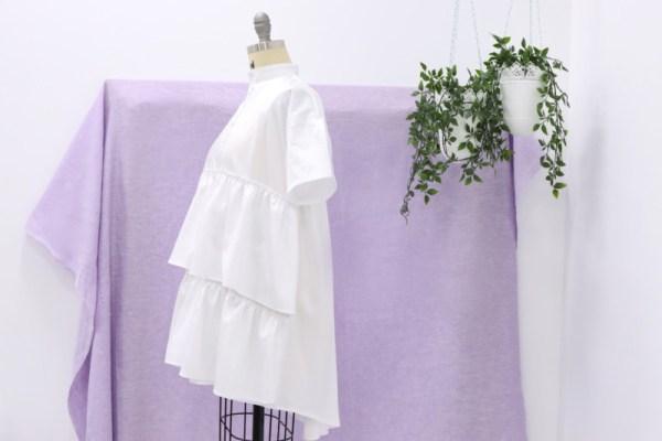 Платье с оборками