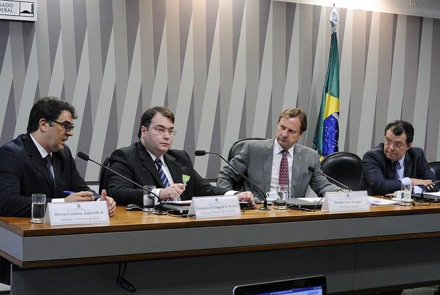 Comissão de Serviços de Infraestrutura (CI) sabatina nomes para compor a diretoria da Agência Nacional de Telecomunicações (Anatel) e Agência Nacional do Petróleo, Gás Natural e Biocombustíveis (ANP). Foto: Edilson Rodrigues/Agência Senado