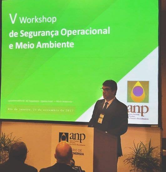 O diretor da ANP Dirceu Amorelli participou do evento. Foto: Cortesia ANP