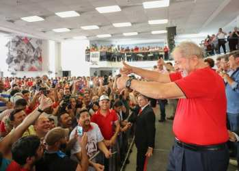 Lula no Sindicato dos Metalúrgicos do ABC. Foto: Ricardo Stuckert